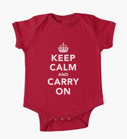Keep Calm and Carry On - Dark One Piece - Short Sleeve
