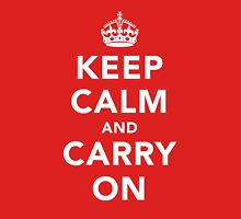 Keep Calm and Carry On - Dark Unisex T-Shirt