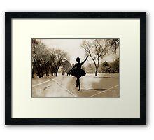 Ballerina Snow Framed Print