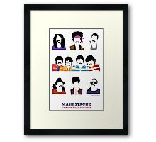 Musicians with Moustaches Framed Print