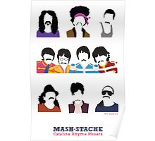 Musicians with Moustaches Poster