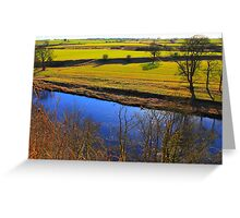 Looking South West across the River Tees from Gainford . Greeting Card