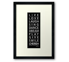 Mark Twain Quote Framed Print