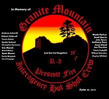 Prescott Granite Mountain Hotshots Memorial T-Shirt by SmashBam