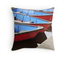 Row boats for hire Throw Pillow