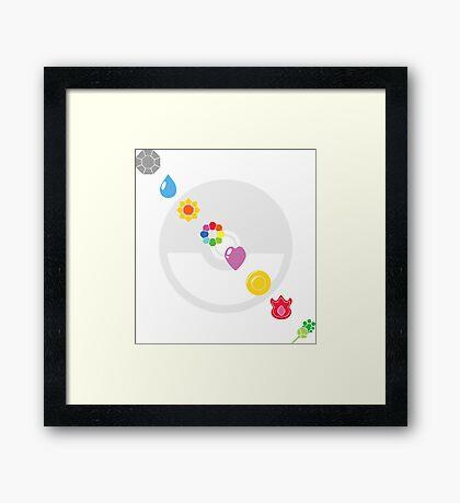 Pokemon Badges Framed Print