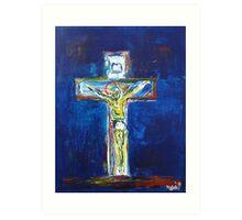 Crucifixion Blue 2010 Art Print