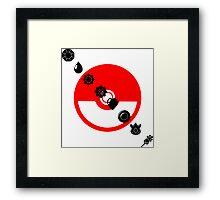 Pokemon Black Badges  Framed Print