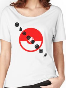 Pokemon Black Badges  Women's Relaxed Fit T-Shirt