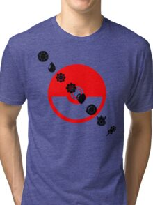 Pokemon Black Badges  Tri-blend T-Shirt