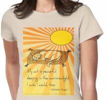 Cat Nap Haiku Womens Fitted T-Shirt