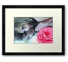 The other girl in the Mirror... Framed Print