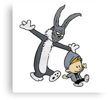 Donnie Darko / Calvin & Hobbes Mash-up Canvas Print