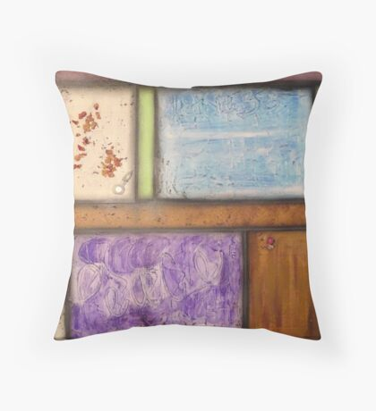 Pastel with vial Throw Pillow