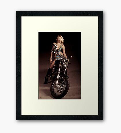 Blond Biker Framed Print