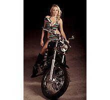 Blond Biker Photographic Print