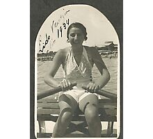 LA ZIA ANGELA AL LIDO DI VENEZIA - ITALIA  1934- .5000 visualizz2015  -  &  FEATURED RB EXPLORE 10 OTTOBRE 2011 ---. Photographic Print