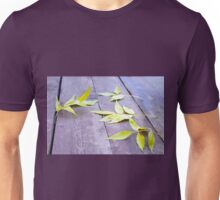 Selective focus on the yellow autumn leaves ash Unisex T-Shirt