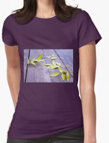 Selective focus on the yellow autumn leaves ash T-Shirt