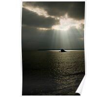 Rocks at Meadfoot Beach, Torquay, Devon Poster