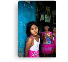 Three girls, Thailand Canvas Print