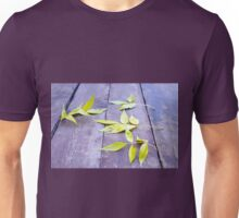 Selective focus on the yellow autumn leaves ash closeup Unisex T-Shirt