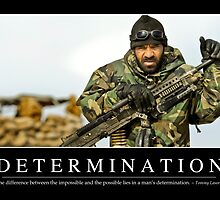 Determination: Inspirational Quote and Motivational Poster by StocktrekImages
