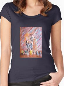 I Love Bluegrass Pastel Painting Women's Fitted Scoop T-Shirt
