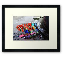 Coloured Rain Framed Print