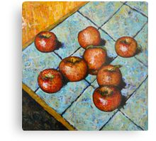 apples on tile Metal Print