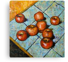 apples on tile Canvas Print