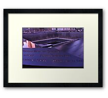 9/11 Memorial - New York City Framed Print