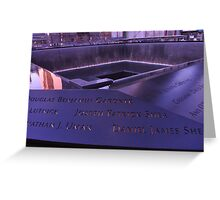 9/11 Memorial - New York City Greeting Card