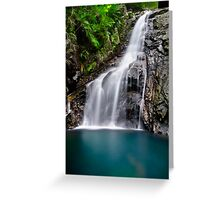 Hiji Falls Close-Up, Okinawa, Japan Greeting Card