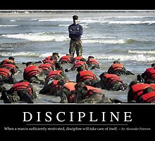 Discipline: Inspirational Quote and Motivational Poster by StocktrekImages
