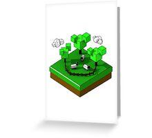 Isometric island frame - Sheep Greeting Card