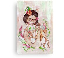 Frida the Mexican Canvas Print