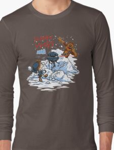 Calvin And Hobbes snow wars Long Sleeve T-Shirt