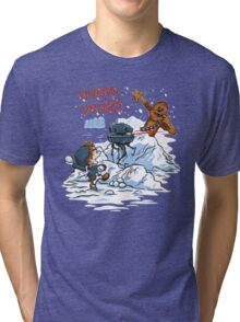 Calvin And Hobbes snow wars Tri-blend T-Shirt