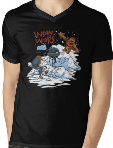 Calvin And Hobbes snow wars Mens V-Neck T-Shirt