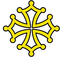 Croix occitane oc Photographic Print