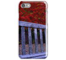 Fall Bench iPhone Case/Skin