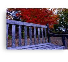 Fall Bench Canvas Print