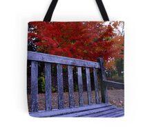 Fall Bench Tote Bag