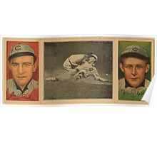 Benjamin K Edwards Collection James P Archer John J Evers Chicago Cubs baseball card portrait Poster