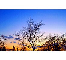Ending to a cold day Photographic Print