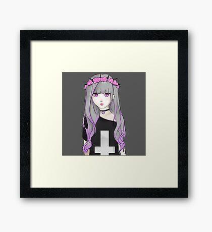 Pastel goth girl Framed Print