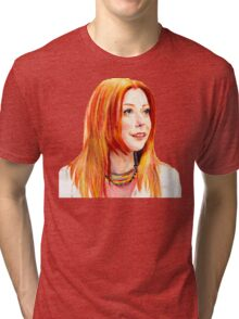 Willow Coloured Pencil Drawing Tri-blend T-Shirt