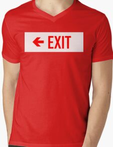 EXIT Emergency Exit Sign with Arrow T-Shirt