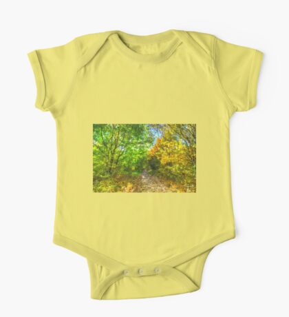 Autumnal Forest Path Art One Piece - Short Sleeve